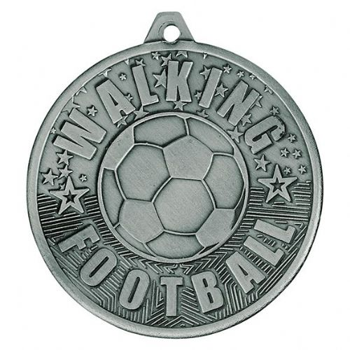 Cascade Walking Football Iron Medal Antique Silver 50mm